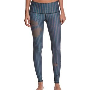 Teeki Blue & Gold Deputy Yoga Hot Pants